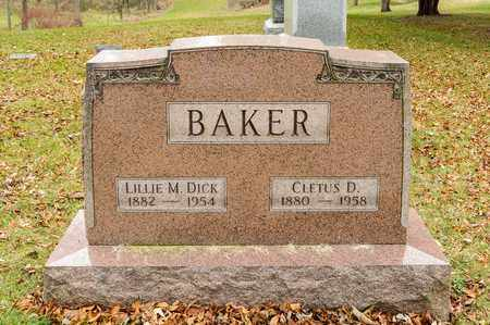 DICK BAKER, LILLIE M - Richland County, Ohio | LILLIE M DICK BAKER - Ohio Gravestone Photos