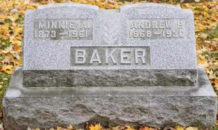 BAKER, MINNIE A. - Richland County, Ohio | MINNIE A. BAKER - Ohio Gravestone Photos