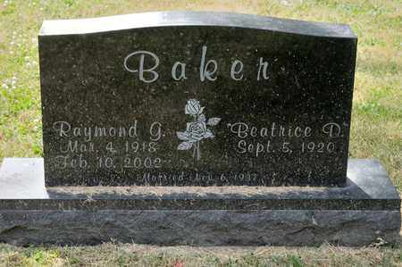 BAKER, RAYMOND G - Richland County, Ohio | RAYMOND G BAKER - Ohio Gravestone Photos