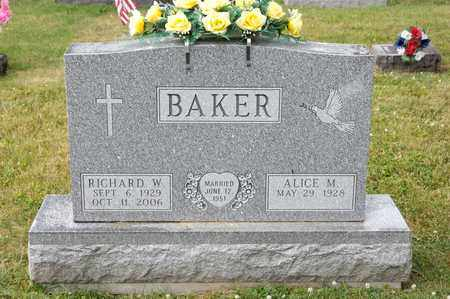 BAKER, RICHARD W - Richland County, Ohio | RICHARD W BAKER - Ohio Gravestone Photos