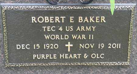 BAKER, ROBERT E - Richland County, Ohio | ROBERT E BAKER - Ohio Gravestone Photos