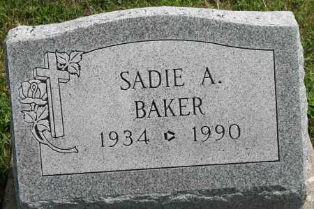BAKER, SADIE A - Richland County, Ohio | SADIE A BAKER - Ohio Gravestone Photos