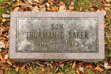 BAKER, THURMAN G - Richland County, Ohio | THURMAN G BAKER - Ohio Gravestone Photos