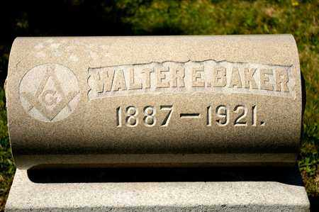 BAKER, WALTER E - Richland County, Ohio | WALTER E BAKER - Ohio Gravestone Photos