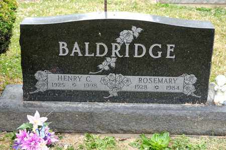 BALDRIDGE, HENRY C - Richland County, Ohio | HENRY C BALDRIDGE - Ohio Gravestone Photos