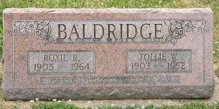 R BALDRIDGE, ROXIE - Richland County, Ohio | ROXIE R BALDRIDGE - Ohio Gravestone Photos