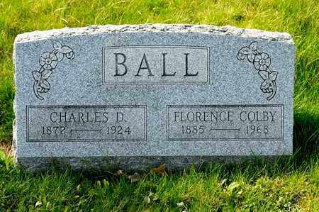 BALL, CHARLES D - Richland County, Ohio | CHARLES D BALL - Ohio Gravestone Photos