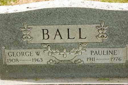 BALL, GEORGE W - Richland County, Ohio | GEORGE W BALL - Ohio Gravestone Photos