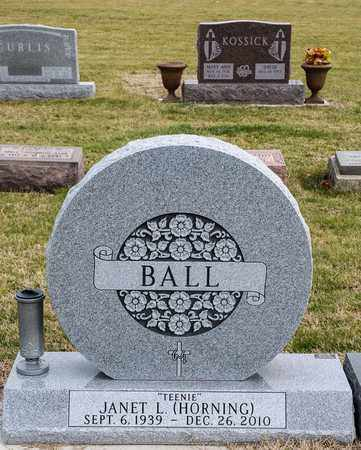BALL, JANET L - Richland County, Ohio | JANET L BALL - Ohio Gravestone Photos