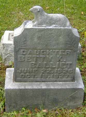 BALLIET, BETTY K. - Richland County, Ohio | BETTY K. BALLIET - Ohio Gravestone Photos