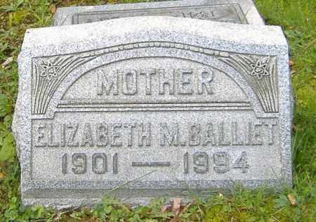 BALLIET, ELIZABETH M. - Richland County, Ohio | ELIZABETH M. BALLIET - Ohio Gravestone Photos