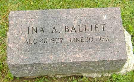 BALLIET, INA A. - Richland County, Ohio | INA A. BALLIET - Ohio Gravestone Photos
