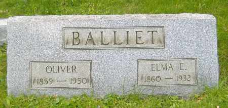 MCDERMOTT BALLIET, ELMA E. - Richland County, Ohio | ELMA E. MCDERMOTT BALLIET - Ohio Gravestone Photos