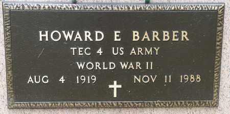 BARBER, HOWARD E - Richland County, Ohio | HOWARD E BARBER - Ohio Gravestone Photos