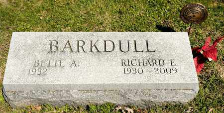 BARKDULL, RICHARD E - Richland County, Ohio | RICHARD E BARKDULL - Ohio Gravestone Photos