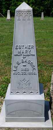 BASORE, ESTHER MARY - Richland County, Ohio | ESTHER MARY BASORE - Ohio Gravestone Photos