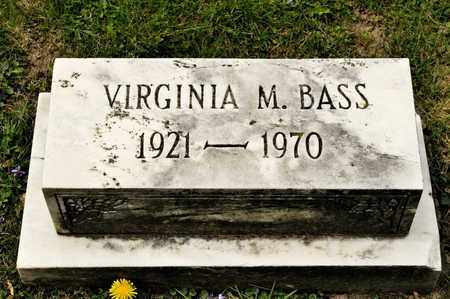 BASS, VIRGINIA M - Richland County, Ohio | VIRGINIA M BASS - Ohio Gravestone Photos