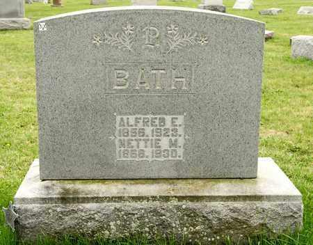 BATH, ALFRED E - Richland County, Ohio | ALFRED E BATH - Ohio Gravestone Photos