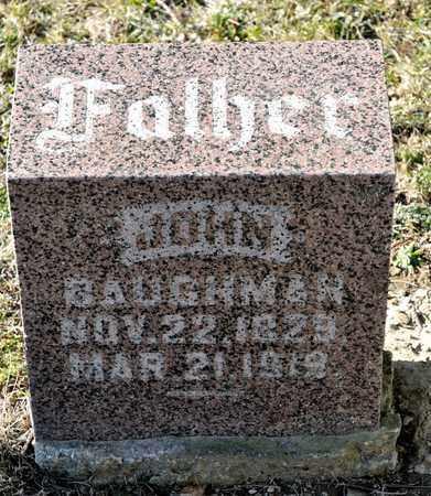 BAUGHMAN, JOHN - Richland County, Ohio | JOHN BAUGHMAN - Ohio Gravestone Photos