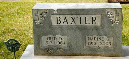 BAXTER, NADINE G - Richland County, Ohio | NADINE G BAXTER - Ohio Gravestone Photos