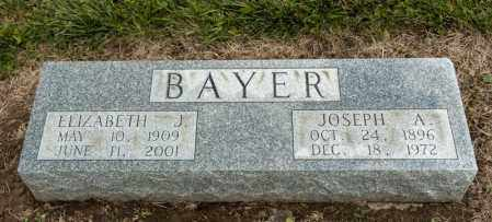 BAYER, JOSEPH A - Richland County, Ohio | JOSEPH A BAYER - Ohio Gravestone Photos
