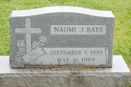 BAYS, NAOMI J - Richland County, Ohio | NAOMI J BAYS - Ohio Gravestone Photos