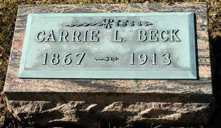BECK, CARRIE L - Richland County, Ohio | CARRIE L BECK - Ohio Gravestone Photos