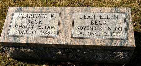 BECK, JEAN ELLEN - Richland County, Ohio | JEAN ELLEN BECK - Ohio Gravestone Photos