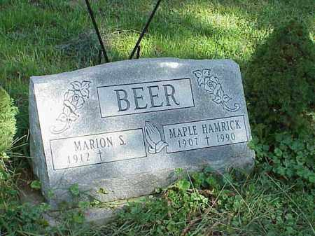 BEER, MARION S. - Richland County, Ohio | MARION S. BEER - Ohio Gravestone Photos