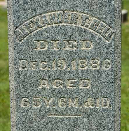 BELL, ALEXANDER - Richland County, Ohio | ALEXANDER BELL - Ohio Gravestone Photos