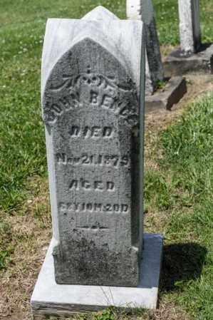 BENCE, JOHN - Richland County, Ohio | JOHN BENCE - Ohio Gravestone Photos