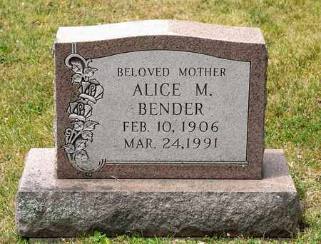 BENDER, ALICE M - Richland County, Ohio   ALICE M BENDER - Ohio Gravestone Photos