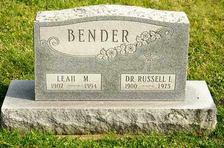 BENDER, LEAH M - Richland County, Ohio | LEAH M BENDER - Ohio Gravestone Photos
