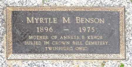BENSON, MYRTLE M - Richland County, Ohio | MYRTLE M BENSON - Ohio Gravestone Photos
