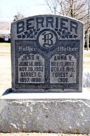 BERRIER, ANNA V - Richland County, Ohio | ANNA V BERRIER - Ohio Gravestone Photos