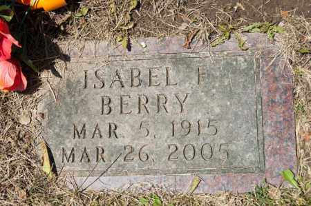 BERRY, ISABEL F - Richland County, Ohio | ISABEL F BERRY - Ohio Gravestone Photos