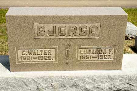 BJORGO, LUGARDA F - Richland County, Ohio | LUGARDA F BJORGO - Ohio Gravestone Photos
