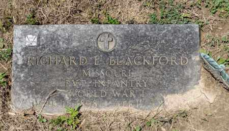 BLACKFORD, RICHARD E - Richland County, Ohio | RICHARD E BLACKFORD - Ohio Gravestone Photos