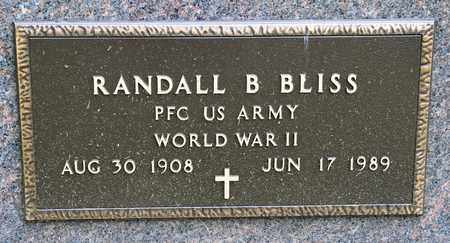 BLISS, RANDALL B - Richland County, Ohio | RANDALL B BLISS - Ohio Gravestone Photos