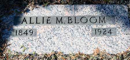 BLOOM, ALLIE M - Richland County, Ohio | ALLIE M BLOOM - Ohio Gravestone Photos