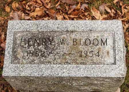 BLOOM, HENRY W - Richland County, Ohio | HENRY W BLOOM - Ohio Gravestone Photos