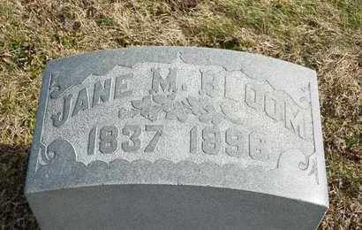 BLOOM, JANE M - Richland County, Ohio | JANE M BLOOM - Ohio Gravestone Photos