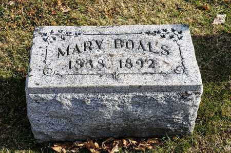 BOALS, MARY - Richland County, Ohio | MARY BOALS - Ohio Gravestone Photos