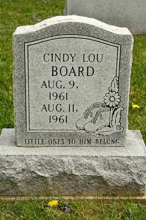 BOARD, CINDY LOU - Richland County, Ohio | CINDY LOU BOARD - Ohio Gravestone Photos