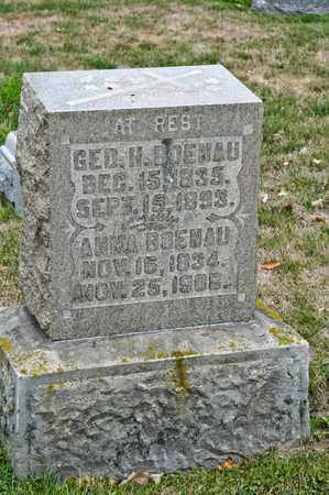 BOENAU, GEORGE H - Richland County, Ohio | GEORGE H BOENAU - Ohio Gravestone Photos