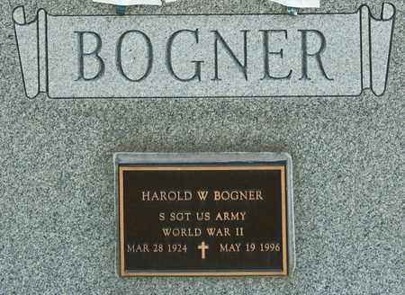 BOGNER, HAROLD W - Richland County, Ohio | HAROLD W BOGNER - Ohio Gravestone Photos