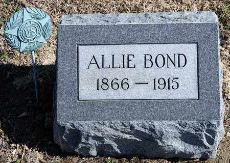 BOND, ALLIE - Richland County, Ohio | ALLIE BOND - Ohio Gravestone Photos