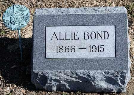 BOND, ALLIE - Richland County, Ohio | ALLIE BOND - Ohio Gravestone Photos