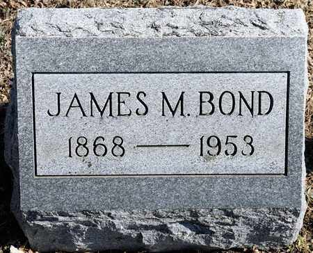 BOND, JAMES M - Richland County, Ohio | JAMES M BOND - Ohio Gravestone Photos