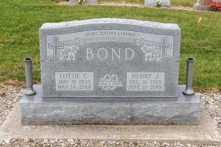 BOND, LOTTIE C - Richland County, Ohio | LOTTIE C BOND - Ohio Gravestone Photos